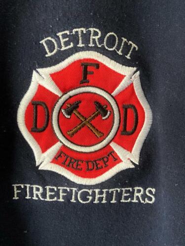 DETROIT FIRE DEPT FIREFIGHTERS EMBROIDERED SWEATSHIRT-SIZE XL