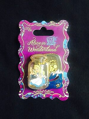 Disney Alice in Wonderland 65th Anniversary Alice in Bottle Slider Pin