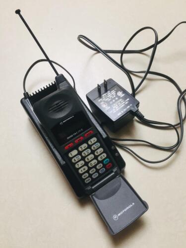 Vintage Motorola Micro TAC Lite II Flip Phone, Dock,& Charger