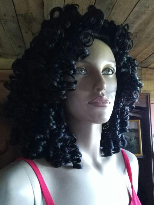 "CAMELIA ROSE Irish Dance Wig black #2 CK-PT4-3  Long 20"" curly wig"