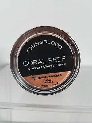 New Youngblood Crushed Mineral Blush Coral Reef .1oz **Unused Tester No - Crushed Mineral Blush