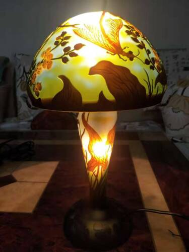 Very beautiful. Emile Galle Dragonfly lamp