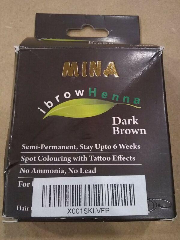 Mina iBrow Henna Eyebrow Henna Tinting Kit  (Dark Brown)