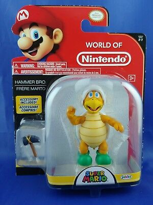 New In Box Jakks Pacific Mario World Of Nintendo 4  Wave 2 7 Hammer Bro Figure