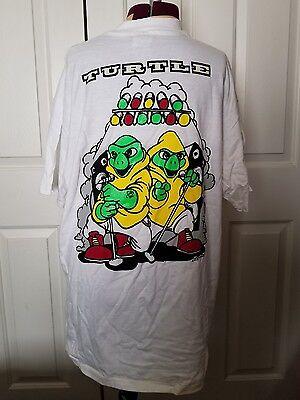 TMNT GLOW IN DARK 1990 Vintage Teenage Mutant Ninja Turtles Theme Song T Shirt L](Ninja Turtle Theme)