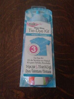 Turquoise One Step Tie Dye Kit Tulip NEW tye die craft activity party art (Tye Die Kit)