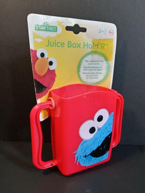 2013 Sesame Street COOKIE MONSTER RED Juice Box Hold R Holder Evriholder New