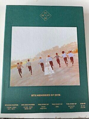 BTS BANGTAN BOYS Memories of 2016 Official DVD Photobook Set With Photocard