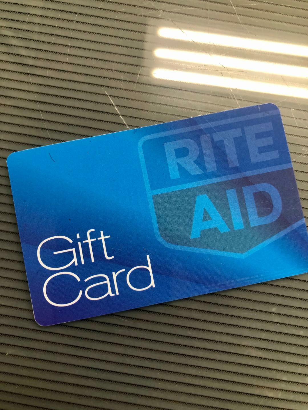 RITE AID MERCHANDISE RETURN CARD WITH TOTAL BALANCE OF 88.46 - $70.00