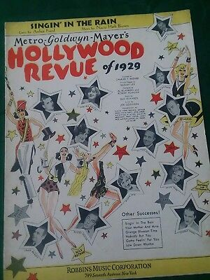 Vintage Sheet Music Hollywood Revue 1929 Buster Keaton Jack Benny Joan Crawford