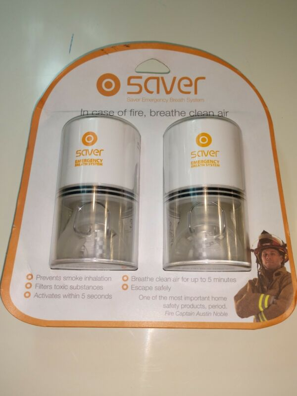 Saver Emergency Breathing System portable Fire Safety-2 Person Set -New-Exp.2021