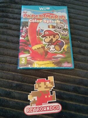jeux vidéo nintendo Wii U neuf paper Mario color splash