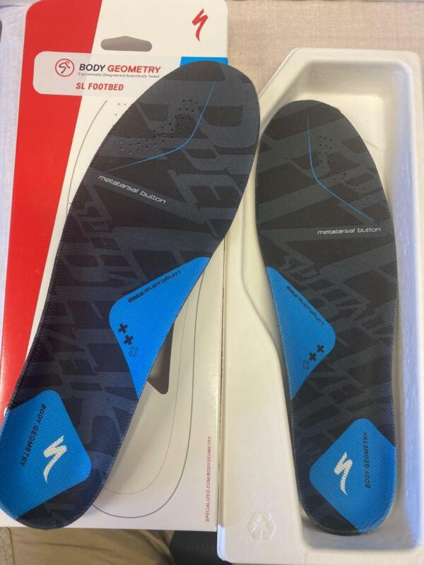 NEW Specialized Body Geometry SL bicycle shoe FOOTBED BLUE