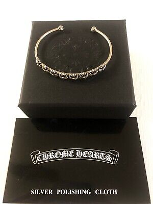 Chrome Hearts Skinny Multi CH Plus Bangle Sterling Silver 925
