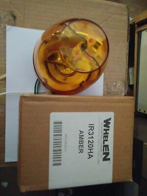 Whelen Signaling Ir3120ha Rotating Halogen Beacon 120v Ac Amber