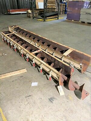 9 X 21-6 Long Carbon Steel Screw Conveyor Auger With 10 U-trough Conveyor Se
