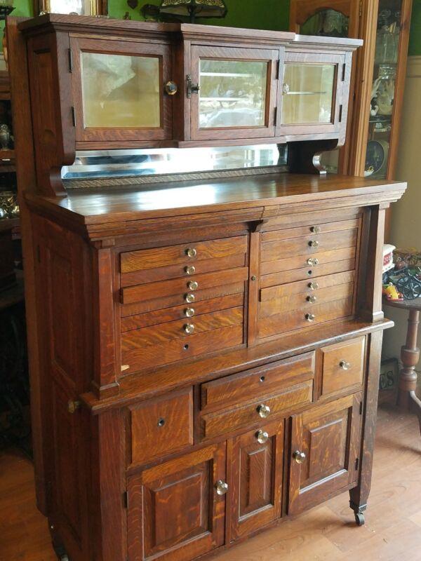 Antique Quarter Oak Dental Cabinet *circa 1900, We Ship & Deliver