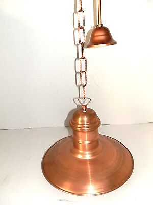 Hanging Chandelier with Chain Iron and Cone Copper 34 CM Available 2 Pz