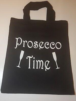 Tote Bag - PROSECCO TIME Bag Life Adult Humour, Cotton  Reusable Shopping  gift