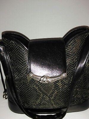 Brighton Pattern - Brighton Black/Gray Snakeskin Pattern  Leather Purse HandBag