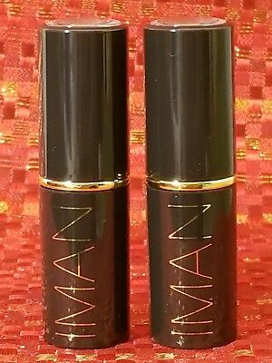 (x2) IMAN Luxury Lip Stain 210 Nearly Nude  New Full Size -