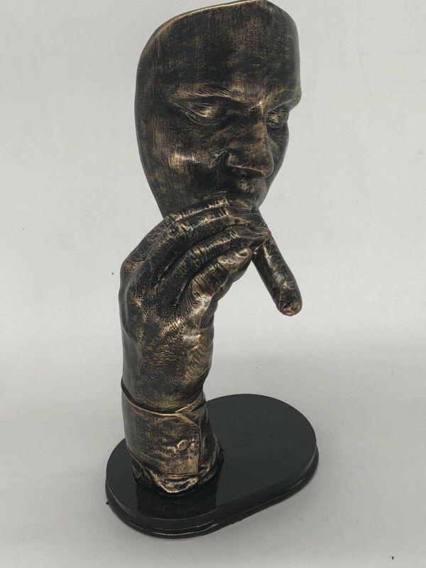 "After Dali, ""Havana Man Smoking Cigar,"" Cold Cast Bronze Sculpture Home Sale"