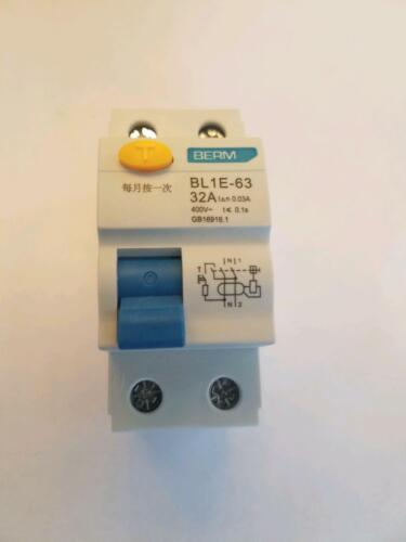 Residual Current Circuit Breaker BL1E-63 32A Leakage Overload Short Circuit