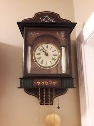 Antique German Biedermeier Box Clock, Black Forest 1 day, Working, time & strike
