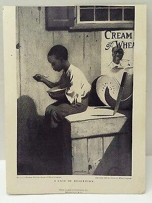 Vintage CREAM OF WHEAT Ad Denmam Fink Original 1909 Judd & Detweiler Wash DC