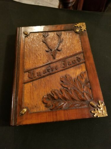 antique German black forest Jaeger box,book,folder