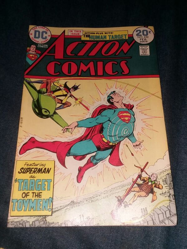 Action Comics #432 1974 DC 1st appearance the toyman FN/VF bronze age key book