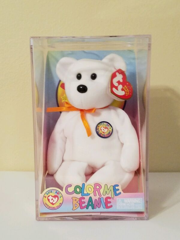 TY ~ COLOR ME BEANIE - TEDDY~ INCLUDING CASE! HELP ME GIVE TO PEDIATRIC. CANCER!