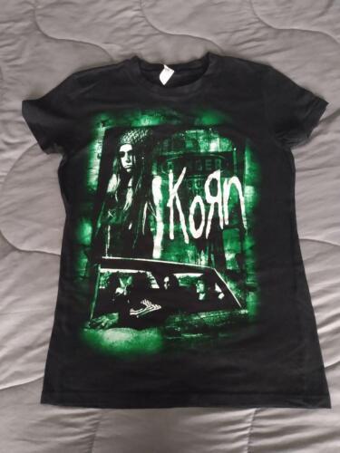 Korn Top T Shirt Womens Size Medium M Black Jonathan Davis