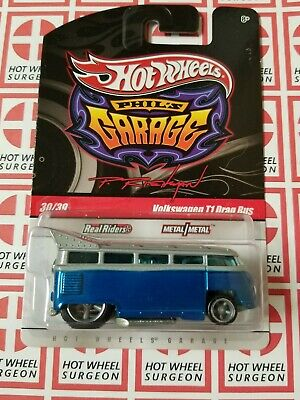 Hot Wheels Phil's Garage Volkswagen T1 Drag Bus Blue * Chase * NIP 1:64 Scale