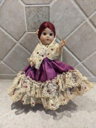 Vintage souvenir Doll in Traditional Costume Spanish / Mexican 1960