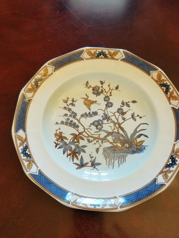 ADAMS china MING TOI - BLUE pattern Dinner Plate