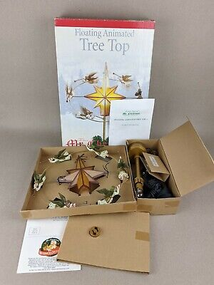 Mr Christmas Floating Animated Tree Top & Standing Flying Angels Light up Moving