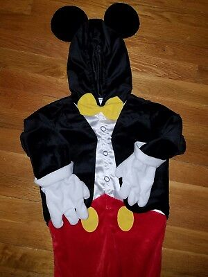 Disney Mickey Mouse Halloween Costume Dress Up Infant Baby Toddler 2T - Mickey Mouse Toddler Halloween Costume