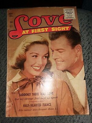 Love At First Sight #43 scarce final issue vg ace magazines golden age romance