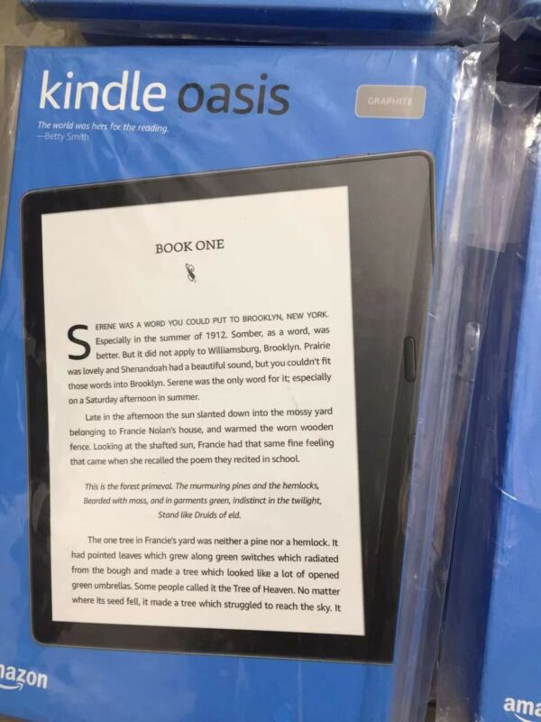 NEW  Kindle Oasis With adjustable warm light, Wi-Fi Graphite 10th Gen 8GB
