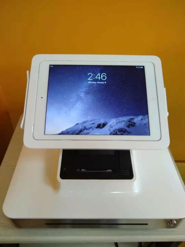 ELO ETT 10l1 Cash Register iPad Dock Good condition with key and three trays