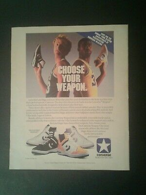 LARRY BIRD /& MAGIC JOHNSON NBA 1986 CONVERSE Vintage Look REPLICA METAL SIGN