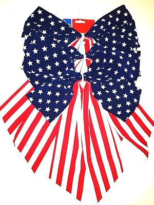 Patriotic Bows Red White Blue US Flag Pattern Party Decor 14