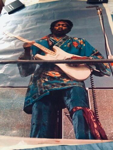 """Vintage 1971 Jimi Hendrix Door Poster 31"""" x 58"""" Distributed by One-Stop Posters"""