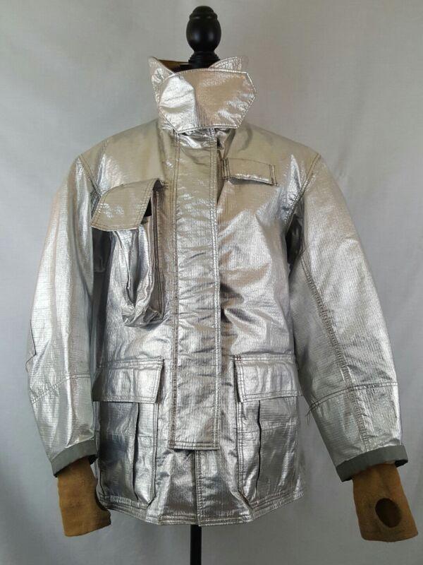 Globe Firefighter Aluminized Proximity Jacket size 42 x 32 Heat Resistant