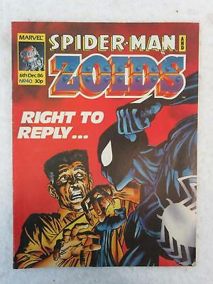 Marvel Spiderman And Zoids  Right To Reply  No  6 December 1986 Uk Issue