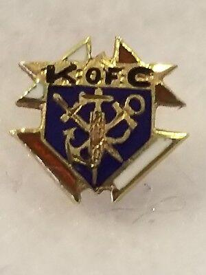 Vintage 14k Yellow Gold Knights of Columbus Lapel Pin Fraternal Membership