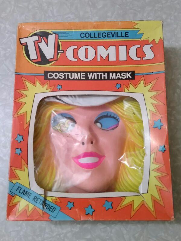 Vintage 1981 Mattel Western Barbie Collegeville Childrens Halloween Costume.
