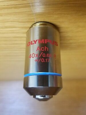 Olympus Microscope Infinity Objective Lens - Ach 40x0.65 P Uis Series