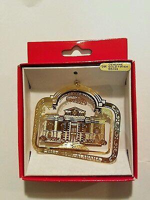 County Court House Talladega Alabama   Brass Christmas Ornament